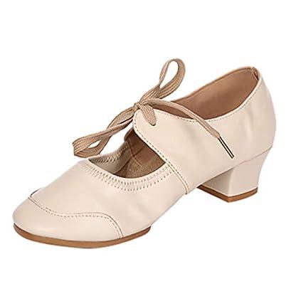 JiaMeng-Damenschuhe-mit-einfarbigen-Schuhen-Latin-Dance-Schuhe-Ballettschuhe-Modern-Dance-Schuhe-Einzelschuhe-Tanzschuhe-Singles-Shoes