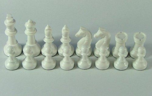 Schachfiguren-Nr-45004-weissgrn-Knigshhe-94-mm-mit-Filzsockel-Staunton-Form