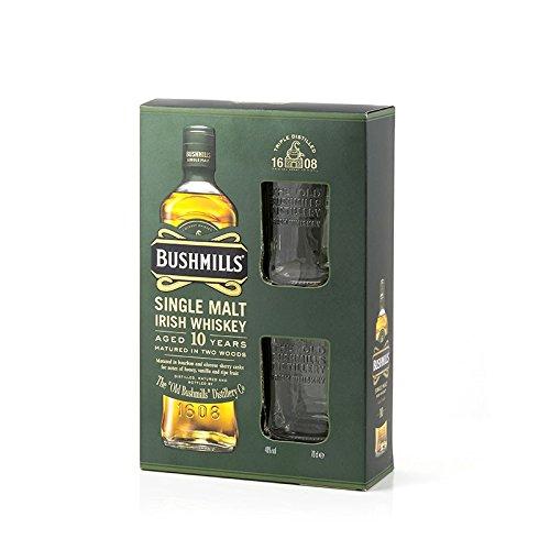 Delineros-Choice-Champions-Whisky-Rum-Gin-in-On-bzw-Inpacks-zB-Bushmills-Whiskey-10-Jahre-40-07l-Whisky-Flasche-2-Original-Bushmills-Glser-in-GP