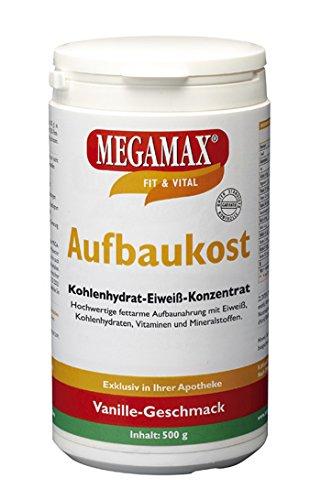 Megamax Aufbaukost Vanille mit nur 0,5 % Fett. Inhalt: 500 g