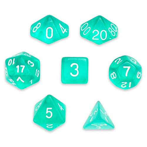 Polyhedral-Dice-Translucent-Teal