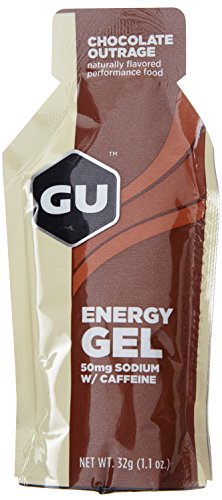 GU Energy Gel, Chocolate Outrage (Schokolade), Box mit 24 x 32 g