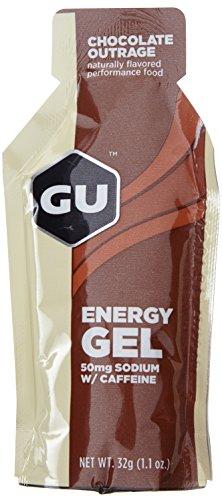 GU Energy Gel, Chocolate Outrage (Schokolade), Box mit 24 x 32 g