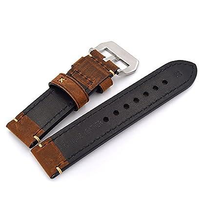 Uhrenarmband-Modische-Herren-Damenuhr-Uhrband-das-Armband-Ersatzuhr-Gurtel-hlt-Watch-Strap-Riemen-Kalbsleder-20mm-22mm-24mm