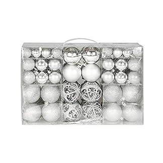 Exklusives-Weihnachtskugeln-Christbaumkugeln-Set-mit-100-Stueck-Farbe-Silber