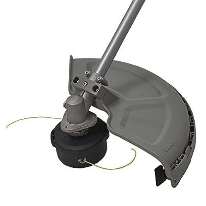 IKRA-Elektro-Sense-Rasensense-IES-1000-C-Schnittkreis-37cm-1000W-inkl-Fadenspule-Dickichtmesser-Schultergurt