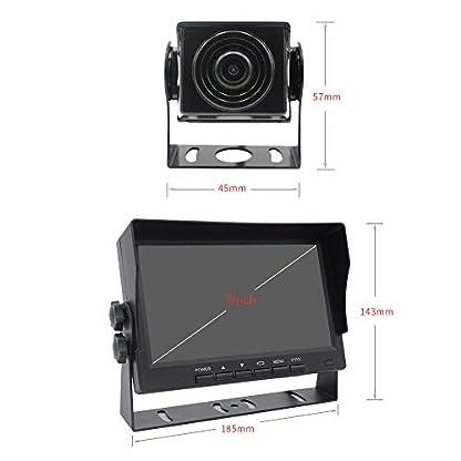 12V-24V-4-Stifte-18-LED-4-Rckfahrkameras-fr-das-Auto-wasserdicht-fr-Nachtsicht-berwachungsvideo-Eine-Maschine-7fr-RVCamperBusAnhngerLKW