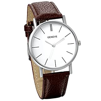 JewelryWe-Damen-Armbanduhr-Classic-StMawes-Analog-Quarz-Uhr-modisch-Zeitloses-Design-Leder-Band-Bloggeruhr