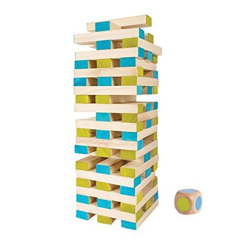 BuitenSpeel-GA277-Spiel-Groer-Turm-mit-60-Blcken-und-Wrfel