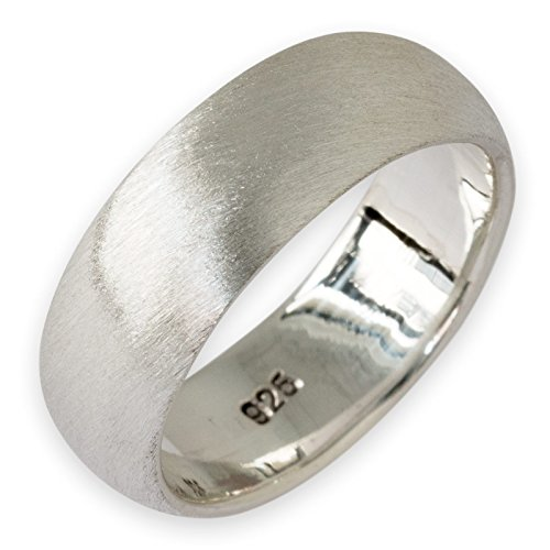 Fly Style Herren Damen Band-Ring Matt 925 Sterling Silber 5 Modelle (4-10mm) risi002_matt