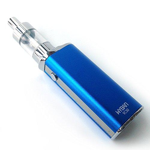 WYBAN E Zigarette Starterset E-Zigarette 30W 2200 Mah Box Mod Akkuträger E Zigaretten Set Mit Sub 1Ohm OCC Coil Atomizer Verdampfer Starterset Ohne Nikotin (Blau)