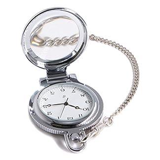 Jean-Constantine-Taschenuhr-mit-Kette-und-Lupenglas-Swiss-Ronda-Uhr-Werk-Kettenuhr-5-ATM-Farbe-Silber