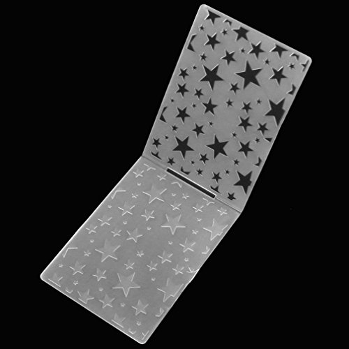 Sunsbell-bersichtliches-Design-fnfzackigen-Stern-Muster-Kunststoff-Embossing-Folders-fr-DIY-Karte-die-Dekoration-Supplies