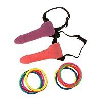 Sharplace-Ringwurf-Spiel-Willy-Ring-Toss-Spiel-mit-Ringen-fr-Bachelorette-Party-Junggesellinnenabschied-Geburtstagsparty-Oder-Ein-Mdchen-Nacht