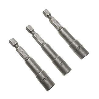Tolsen-Schaft-3-Stck-7-mm-x-65-mm-Sechskant-Steckschlssel-Nuss-Treiber-Bits-14-Adapter