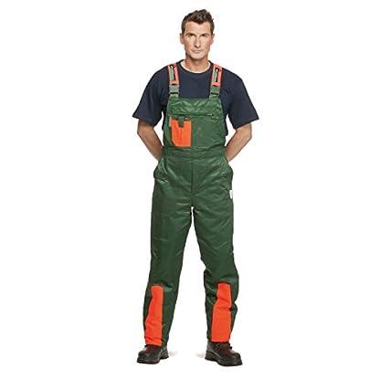 WOODSafe-Schnittschutzhose-Klasse-1-Forsthose-kwf-Geprft-Latzhose-GrnOrange-Herren-Waldarbeiterhose-mit-Schnittschutz-Form-A-Leichtes-Gewicht