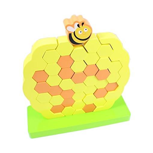 Wackelturm-Bienenstock-lustiges-Geschicklichkeitsspiel-aus-Holz-Fr-Kinder-ab-3-Jahren-Groer-Spa-beim-Spielen-und-Training-der-Feinmotorik
