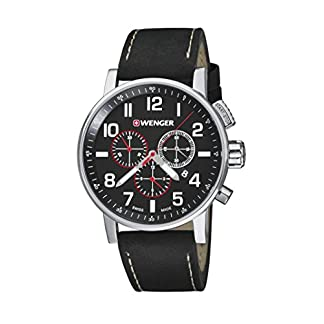 Wenger-Unisex-Armbanduhr-010343102-WENGER-ATTITUDE-CHRONO-Analog-Quarz-Leder-010343102-WENGER-ATTITUDE-CHRONO