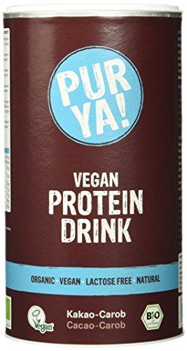 Purya Bio Vegan Protein Drink Cacao-Carob, 1er Pack (1 x 550 g)