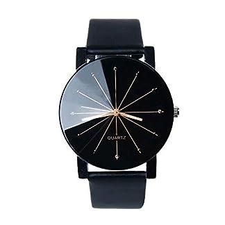 Waymeduo-Mode-Kunstleder-Herren-Quarzwerk-Uhren-minimalistisches