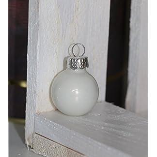 RiloStore-24-STK-Glas-Weihnachtskugeln-Christbaumkugeln-wei-Opal-Farben-Dekokugeln-Glaskugeln-Chirstbaumschmuck-Christbaumdeko-matt-glnzend-Deko-Kugeln
