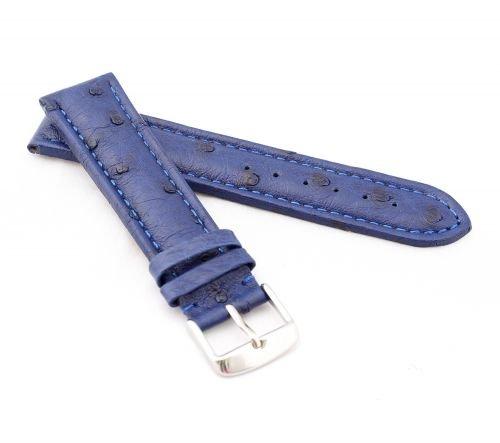 BOB-Uhrenarmband-Echt-Strau-Modell-Basic-5-Farben-neu-Gre-Uhr-22-mm-Schliee-20-mm