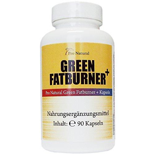 Green Fatburner + 90 Kapseln – 100% Natürlich – Guarana Extrakt – Grüner Kaffee – Grüner Tee – B6 & B12 Vitamine – geeignet für Frauen und Männer
