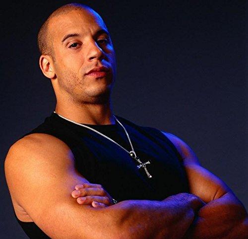 Fast and Furious Dominic Toretto Vin Diesel Kreuz Kette Halskette. Strass