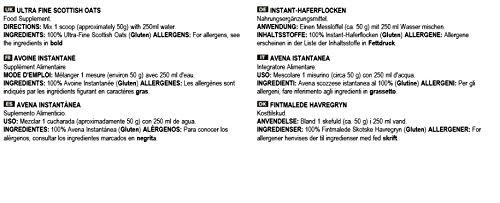 Bulk Powders Hagerflocken fein gemahlen 100% natürliche schottische Haferflocken, 5 kg