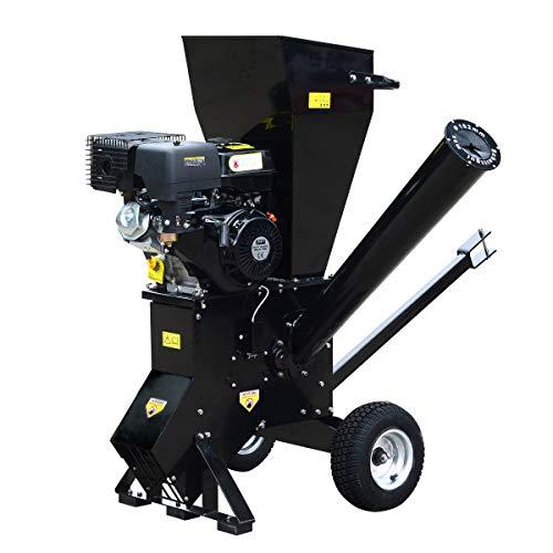 BRAST-Benzin-Hcksler-Gartenhcksler-11kW15PS-420ccm-Deichsel-22-Messer-extra-groe-Rder-Schredder-Motor-Hcksler
