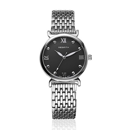 Godagoda-Damenuhr-Rund-Analog-Quarz-Armbanduhr-Luxus-Mode-Rmisches-Ziffern-mit-Edelstahl-Armband-und-Batterie-Uhr