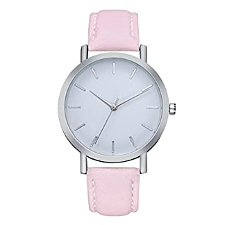 Godagoda-Unisexuhr-fr-Jungen-und-Mchen-Analog-Quarz-Armbanduhr-mit-Leder-Armband-und-Wei-Zifferblatt-Uhr