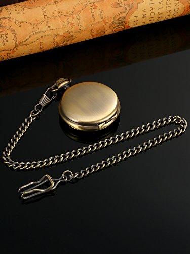 Glatte-Antike-Quarz-Taschenuhr-mit-Stahlkette