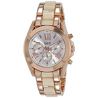 Burgi-Damen-Classic-Analog-Display-Swiss-Quartz-Uhr-mit-Legierung-Armband