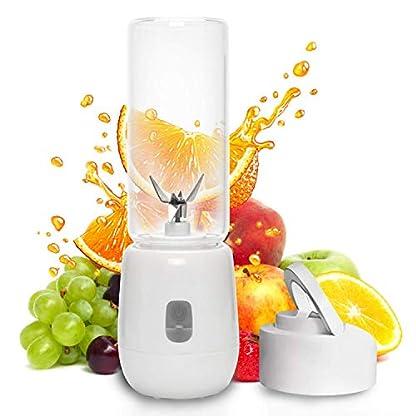 Smoothie-Maker-Mixer-Multifunctional-6-Edelstahlmesser-Mini-Blender-Mixer-Hochleistungsmixer-fr-Shakes-und-Smoothies-kleine-Smothie-maker-USB-wiederaufladbare-Mini-Blender-FDA-und-BPA-frei