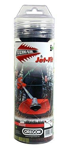 Oregon-Alu-Jet-Fit-Kopf-Techniblade-Mhfaden-Freischneidefaden-Einsteigerpaket