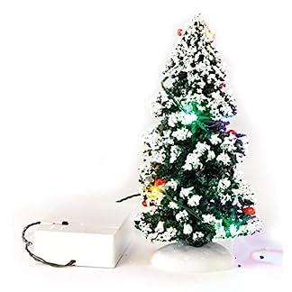 VBS-LED-Tannenbaum-Deko-Miniatur-Winter-Landschaft-Weihnachten-Wechsellicht