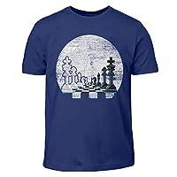 Schachfiguren-im-Mondschein-Geschenk-fr-Schachspieler-Schach-Schachfigur-Vollmond-Kinder-T-Shirt