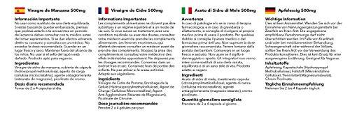 Apfelessig 500mg – 180 Kapseln – Versorgung für bis zu 3 Monaten – unterstützt die Gewichtsabnahme – Simply Supplements