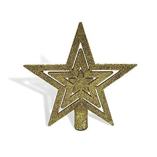 UrbanDesign-Weihnachtsbaumspitze-Baumspitze-Baumstern-Spitze-Stern-Baumschmuck-Weihnachtsbaum-Stern-Weihnachtsstern-Glitzer-Frost-Gold-Glitzer