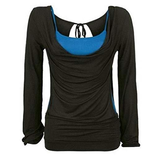 Bluse-Damen-Beilufige-Herbst-Lose-Verband-Lange-Hlsen-Oberteil-Weste-Zweiteilige-Gesetzte-Bluse-Sweatshirt-Langarmshirt-T-Shirt-Tops-Hemd-Tunika