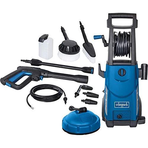 Scheppach-Hochdruckreiniger-HCE2200-165-bar-465-Lh-10m-Schlauch-2200W-Quick-Connect-System-zum-schnellen-Wechseln-der-Aufstze-inkl-11-teiligem-Zubehr-Set