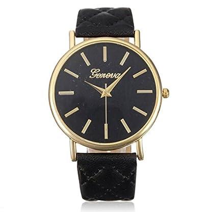 Franterd-Damen-Armbanduhr-Elegant-Uhr-Modisch-Zeitloses-Design-Klassisch-Leder-Rmische-Ziffern-Leder-analoge-Quarzuhr-Armbanduhr-Schwarz