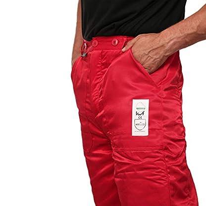 WOODSafe-Schnittschutzhose-Klasse-1-Forsthose-kwf-geprft-Bundhose-rotgelb-Herren-Waldarbeiterhose-mit-Schnittschutz-Form-A-leichtes-Gewicht