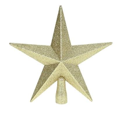 Toyland-Glitter-Star-Weihnachtsbaum-Topper-Gold-20cm