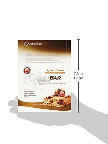 Quest Nutrition Protein Bar Chocolate Chip Cookie Dough 12 x 60g, 1er Pack (1 x 720 g)
