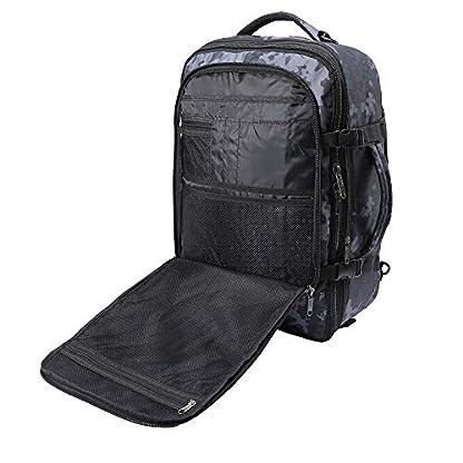 Cabin-Max-Metz-XL-Rucksack-Handgepck-55-x-40-x-20-cm-44-erweiterbar-55-L-erweiterbar-Abnehmbarer-Schultergurt-Packgurte-Kofferffnung-Polsterung-Organisationsfach