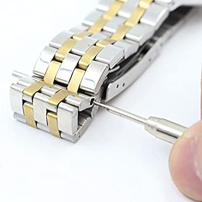 JSDDE-Uhrenarmbnder-Massiv-Edelstahl-Silber-Uhrarmband-mit-Faltschliee-Metall-Uhrband-Federsteg-Werkzeug20mm-Silber