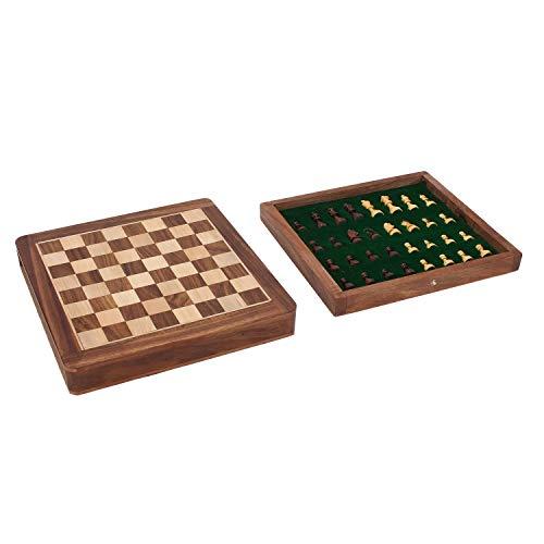 Zap-Impex–Holz-magnetischen-Reisespiel-Schach-Box-und-Fach-10-Zoll