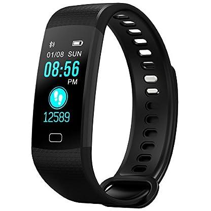 Fitness-Tracker-Uhr-Digital-Schrittzhler-Ladekabel-usb-Erhebung-Blutdruck-Kalorienmesser-krperliche-Aktivitt-Schlaf-Verbindung-mit-IOSAndroid-via-Bluetooth-mit-Polyurethan-armband-GM822